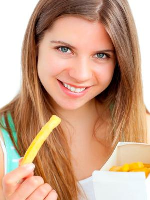 Women said they wanted chips and a good-looking man (Stock picture)