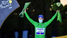 Ireland's Sam Bennett blasted to victory on the final stage of the Tour de France in Paris. Photo: Stuart Franklin/Getty Images