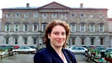 Mildred Fox pictured outside Leinster House on one of her first days, back in 2002