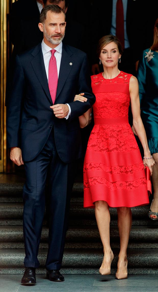 King Felipe VI of Spain and Queen Letizia of Spain attend the commemoration of first democracy election at Congress of deputies on June 28, 2017 in Madrid, Spain. (Photo by Eduardo Parra/GC Images)