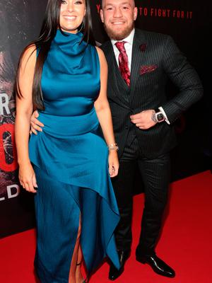 Dee Devlin and Conor McGregor at the world premiere of Conor McGregor: Notorious at the Savoy Cinema, Dublin. Picture: Brian McEvoy