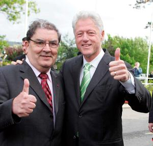 Bill Clinton and John Hume