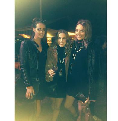 Freya dons Lidl's €15 leather jacket in a photo with Amy Huberman