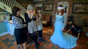 A blue wedding dress? What every fashion conscious bride dreams of. Credit: RTE / Don't Tell The Bride