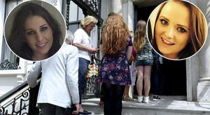 People queue up to sign books of condolences at the Mansion House, inset left Hannah Water, inset right Aoife Beary