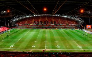 A general view of Thomond Park before the Guinness PRO14 Round 13 match between Munster and Connacht at Thomond Park in Limerick. Photo by Matt Browne/Sportsfile