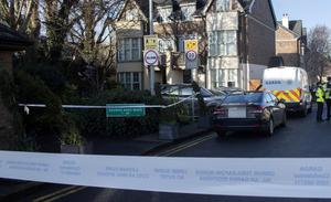 The scene of the stabbing at Brownsbarn Wood, Kingswood, Dublin 24. Photo: Collins