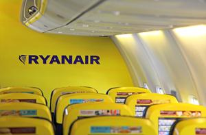 """Interior of Ryanair Boeing 737-800. """"The yellow will change,"""" Kenny Jacobs says."""