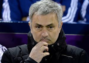 Chelsea manager Jose Mourinho at tonight's match