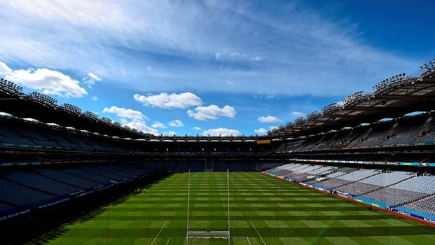A general view of Croke Park ahead of today's games. Allianz Football League, Division 1, Final, Dublin v Cork. Croke Park, Dublin. Picture credit: Ramsey Cardy / SPORTSFILE