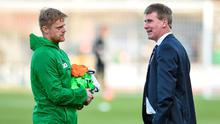 Damien Duff with Stephen Kenny at Tallaght Stadium in 2017. Photo: Matt Browne/Sportsfile