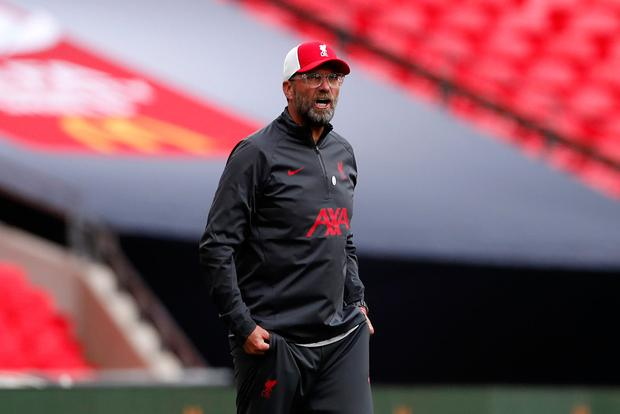 ALL GOOD: Liverpool manager Jurgen Klopp insists the ongoing contract situation with midfielder Georginio Wijnaldum is 'absolutely fine'