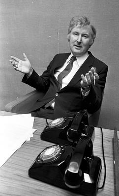 Former Minister for Justice Sean Doherty pictured in 1983