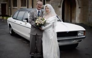Mick and Mairead Philpott on their wedding day.