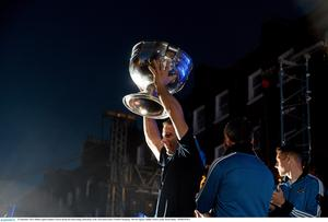 Dublin captain Stephen Cluxton during the homecoming celebrations of the All-Ireland Senior Football Champions