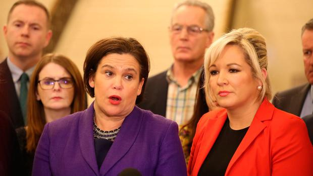 Influence: Sinn Féin deputy leader Michelle O'Neill (right) is among the Northern contingent  advising Mary Lou McDonald. Photo: PA