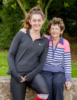Tireless: twins Shauna and Rachael Kelly are both on the frontline and were nominated by their 'biggest fan', grandmother Ann Kelly, picturedhere  with Shauna. Photo: James Connolly