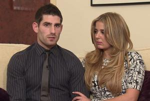 "Screen grab taken from www.chedevans.com of Ched Evans making a statement with his girlfriend Natasha Massey, in which he says he is ""determined to continue the fight"" to clear his name after he was convicted of of raping a woman in a hotel room. Photo credit: www.chedevans.com/PA Wire"