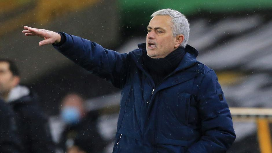 Same old Jose: Jose Mourinho has seen points disappear when trying to protect a lead which has hit Tottenham's title hopes. Photo: Lindsey Parnaby/Pool via Reuters