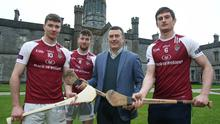 Galway legend Joe Connolly at the launch of the 2017 Independent.ie Fitzgibbon Cup Finals weekend which is being hosted by NUIG on February 24/25.