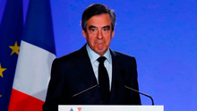 François Fillon at yesterday's press conference in Paris. Photo: Christian Hartmann/Reuters