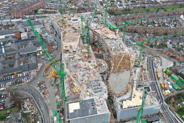 DISPUTE: The new children's hospital is under construction at St James's Hospital in Dublin