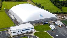 Aerial view of the Connacht GAA Air Dome in Bekan, Co Mayo