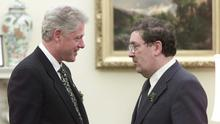 Affection: Bill Clinton paid a warm tribute to John Hume. AP Photo