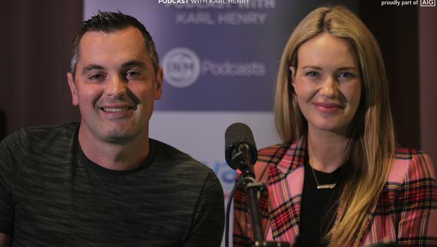 Karl Henry with this week's guest, Aoibhín Garrihy