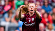 Galway's Louise Ward bids for glory against Dublin. Photo: Sportsfile