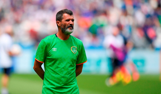 Republic of Ireland assistant manager Roy Keane considering the challenge ahead. Photo by Stephen McCarthy/Sportsfile