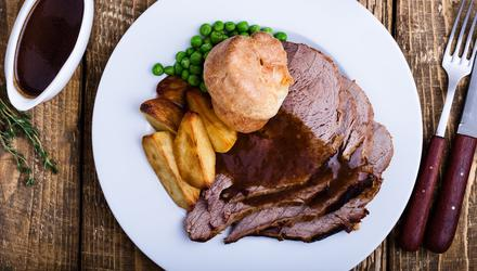 Roast beef with all the trimmings