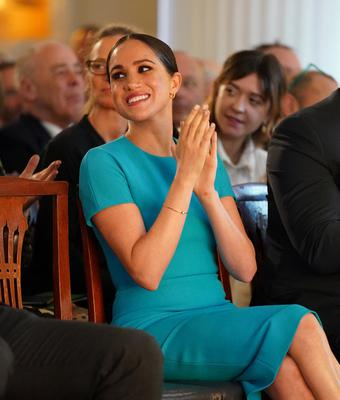 Meghan Markle seemed in high spirits during the annual Endeavour Fund Awards  Paul Edwards/Pool via REUTERS
