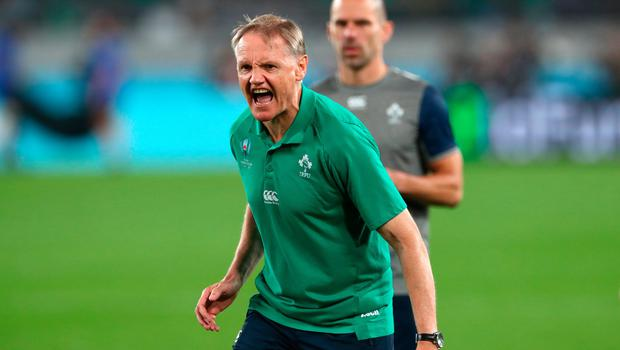 STORM BEFORE THE CALM: Joe Schmidt tries to fire up his troops before Saturday's quarter-final defeat. Photo: Getty Images
