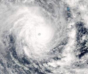 Cyclone Pam bears down on Vanuatu in this image from the Moderate Resolution Imaging Spectroradiometer (MODIS) on NASA's Aqua satellite   REUTERS/NASA/Handout via Reuters