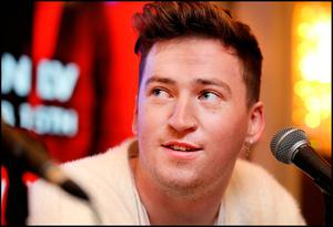 Ryan Hennessy from band Picture This speaking to media and fans during a press briefing at The Westbury Hotel as they announce their new tour and album. Pic Steve Humphreys 17th October 2018