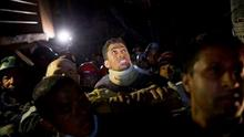 Rishi Khanal survived for more than three days before being freed from rubble in Kathmandu on Tuesday night