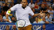Nick Kyrgios of Australia has spoken out about why he didn't train for the first few months of quarantine. Photo: Geoff Burke-USA TODAY Sports/File Photo