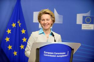 Support: President of the European Commission Ursula von der Leyen will visit Dublin on Wednesday to meet Leo Varadkar. Photo: REUTERS/Johanna Geron