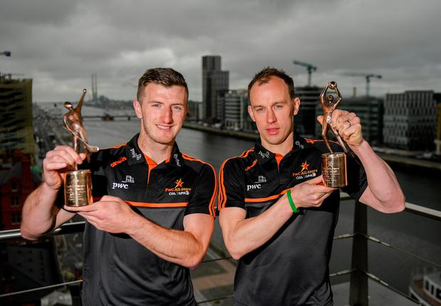 DEADLY DUO: PwC GAA/GPA Players of the Month for May, Cavan footballer Martin Reilly (right) and Cork hurler Patrick Horgan. Photo by Eóin Noonan/Sportsfile