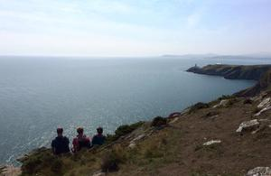 "Howth Head, Co. Dublin. ""It is the most tranquil, beautiful, scenic spot overlooking the sea,"" says Doireann Manning. ""I sat here for an hour. Thoroughly relaxing. One of the best sea views."""