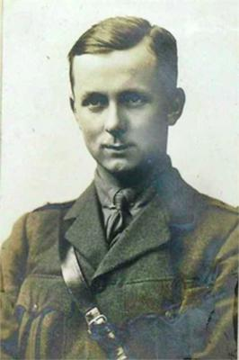 Lieutenant Francis Oswin Cave who commanded a detachment of the Rifle Brigade