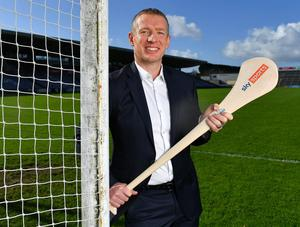 Hurling analyst Ollie Canning at the Sky Sports GAA Championship launch at Pearse Stadium