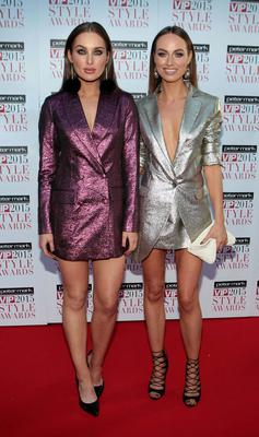 Roz Purcell and Daniella Moyles on the Red Carpet at The Peter Mark VIP Style Awards 2015 at The Marker Hotel,Dublin. Pictures Brian McEvoy