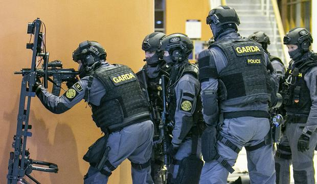Feud in their sights: Members of the Emergency Response Unit (ERU) and Armed Support Units (ASUs) taking part in a drill
