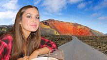 Roz Purcell (inset) in Lanzarote