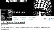 A computer screenshot shows the U.S. Central Command Twitter feed after it was apparently hacked (Reuters).