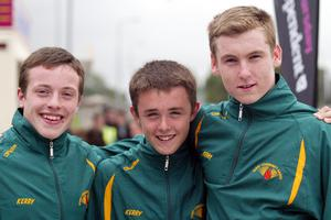 Shane Howe, David Spillane, Billy Courtney Kery U16 Boys relay team at the HSE Community Games in Athlone. Photo molloyphotography