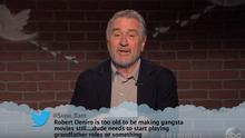 Robert De Niro appeared on the Oscars version of 'Mean Tweets'