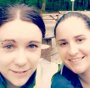 Kayla (left) made the difficult decision to seek professional help after her friend Caitriona (right) told her she was feeling suicidal